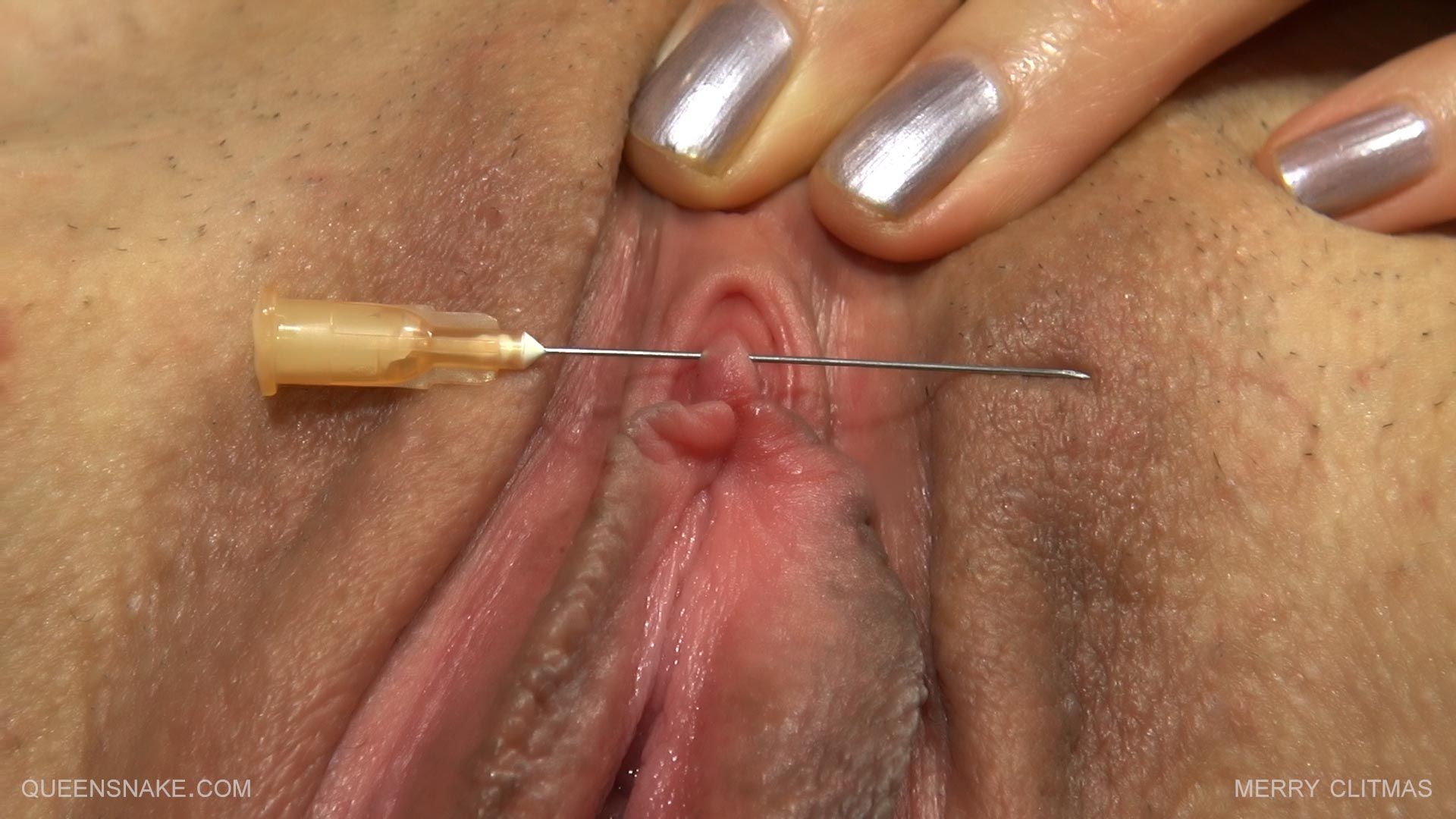Needle in clit
